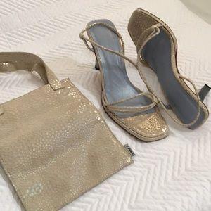 Emporio Armani heels & small handheld bag